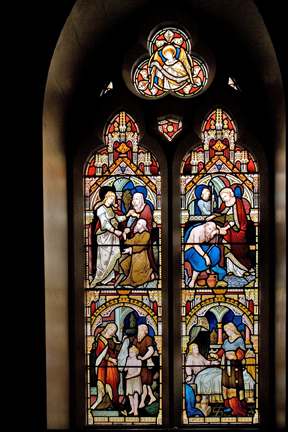 Corporal Acts of Mercy Window 1883
