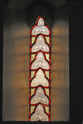 Single lancet window in south aisle (19th C)